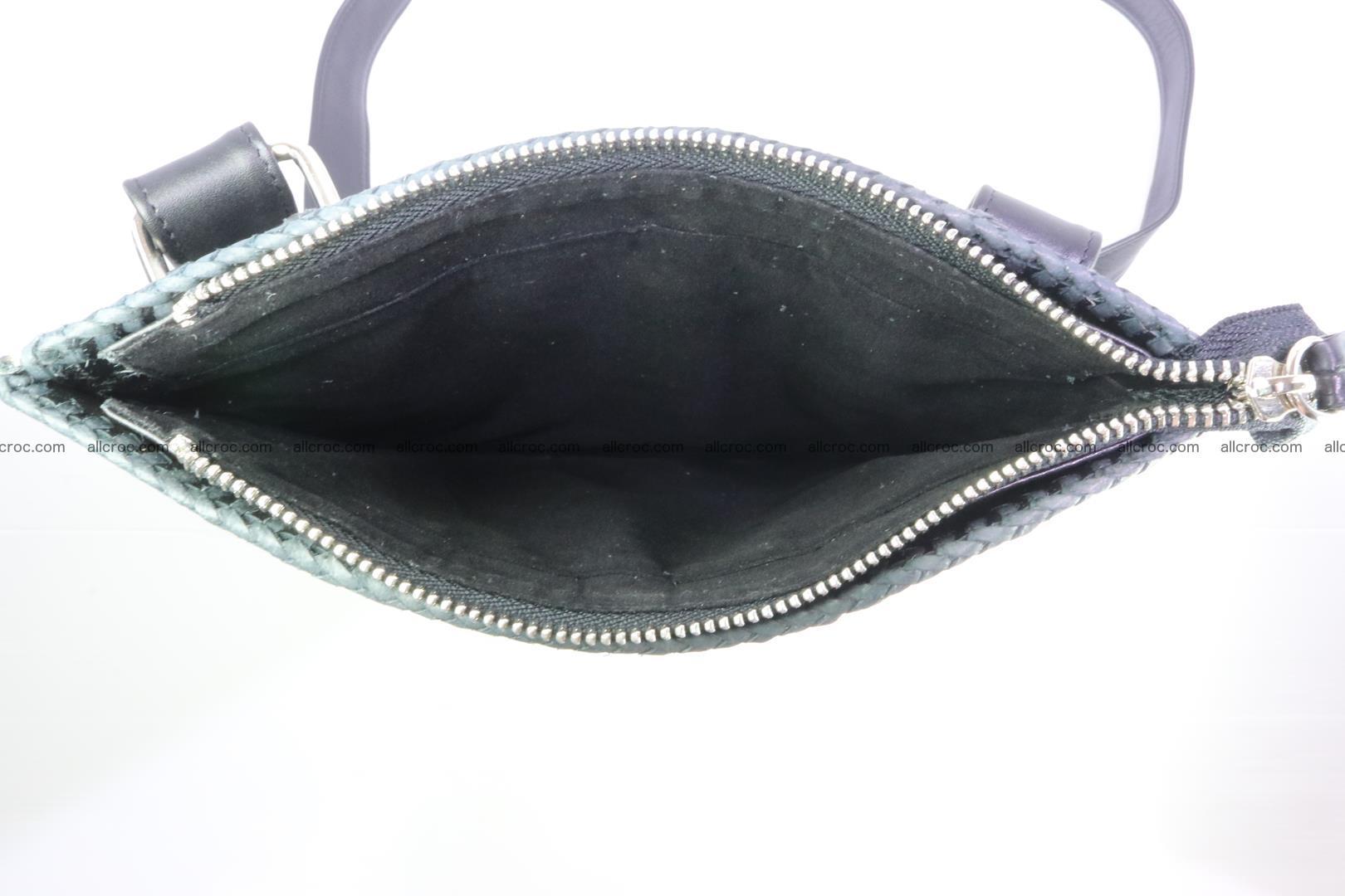 Crocodile skin shoulder bag hand braided edges 130 Foto 10