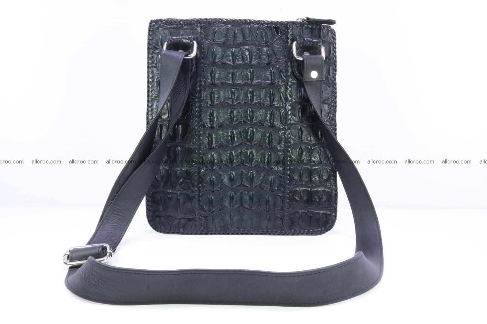 Crocodile skin shoulder bag hand braided edges 133 Foto 3