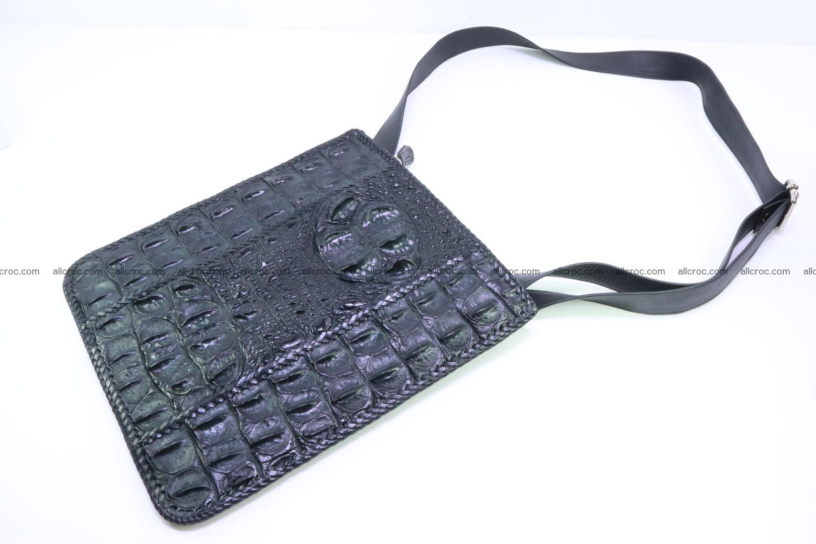 Crocodile skin shoulder bag hand braided edges 133 Foto 5