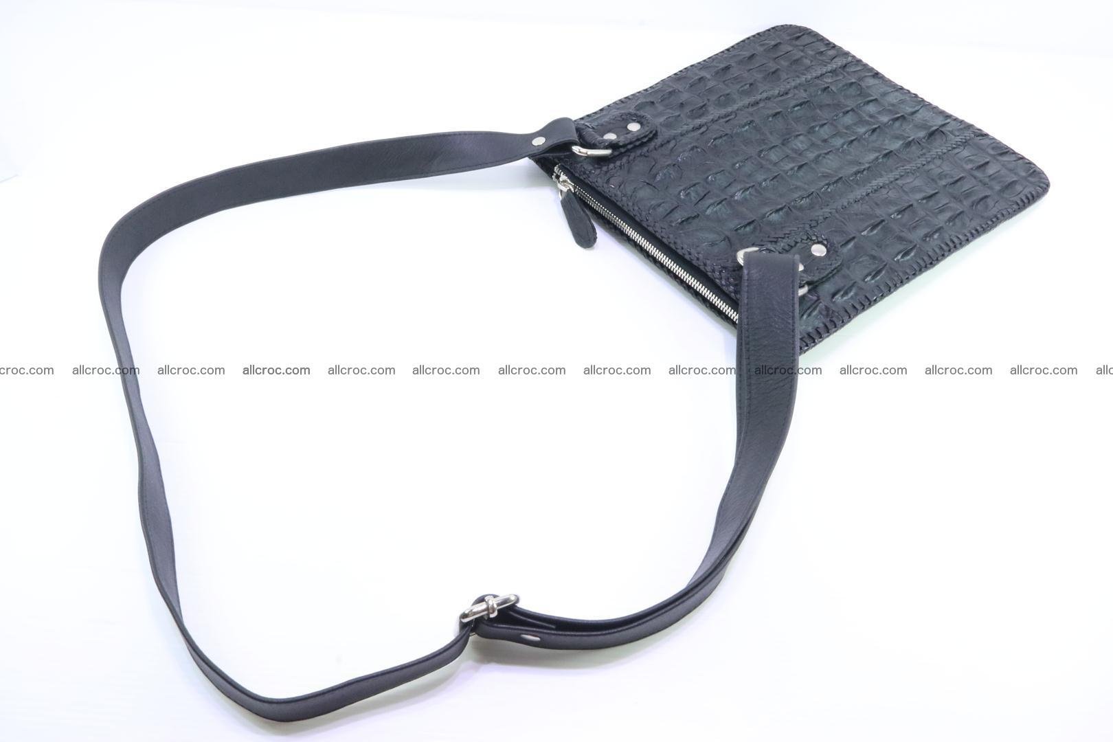 Crocodile skin shoulder bag hand braided edges 133 Foto 7