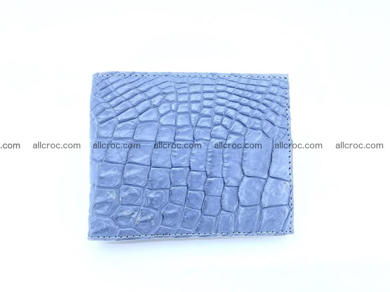 Crocodile leather money clip 938