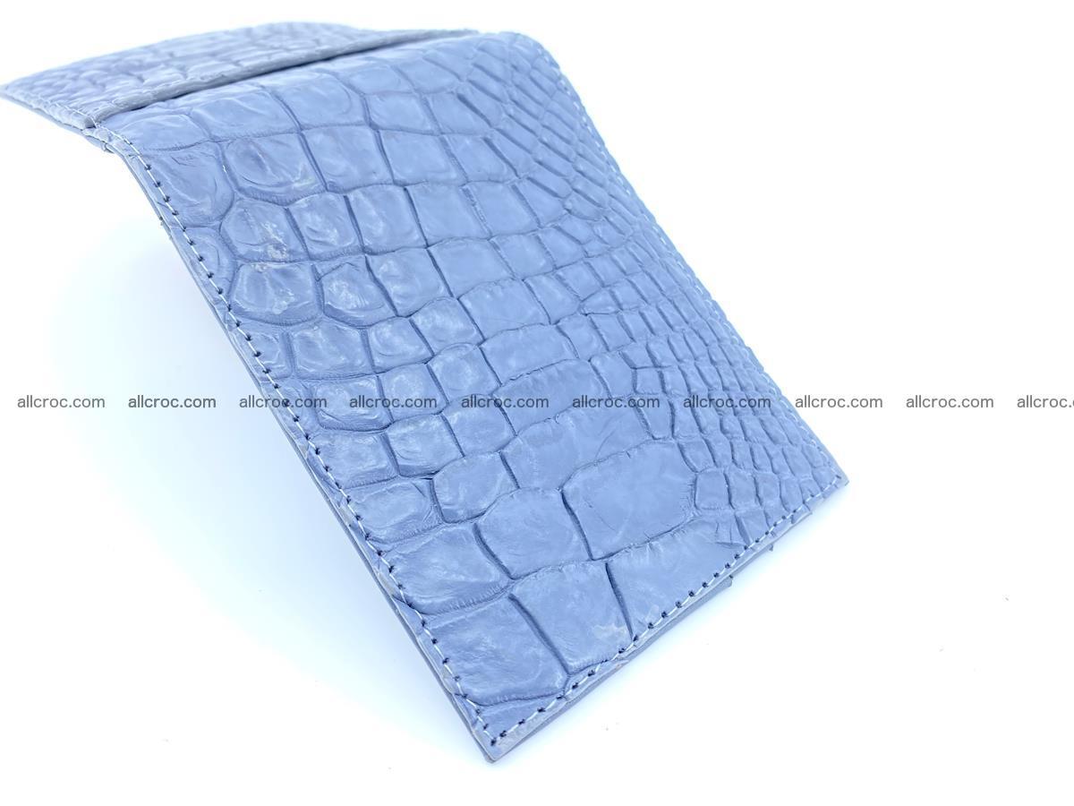 Crocodile leather money clip 938 Foto 2