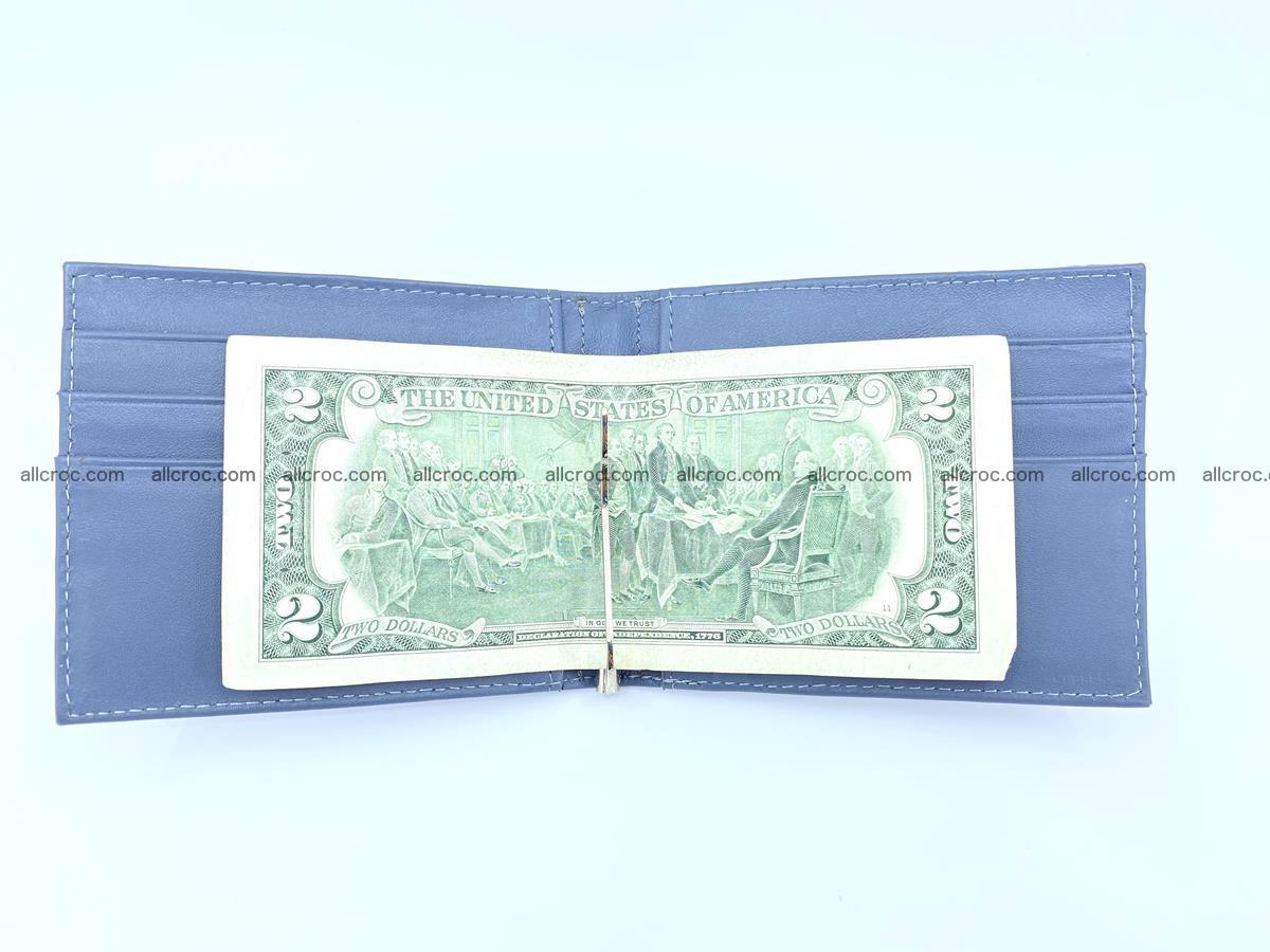 Crocodile leather money clip 938 Foto 3