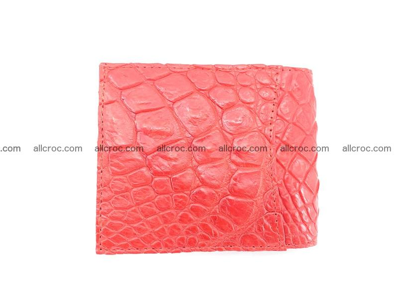 Crocodile leather money clip 937