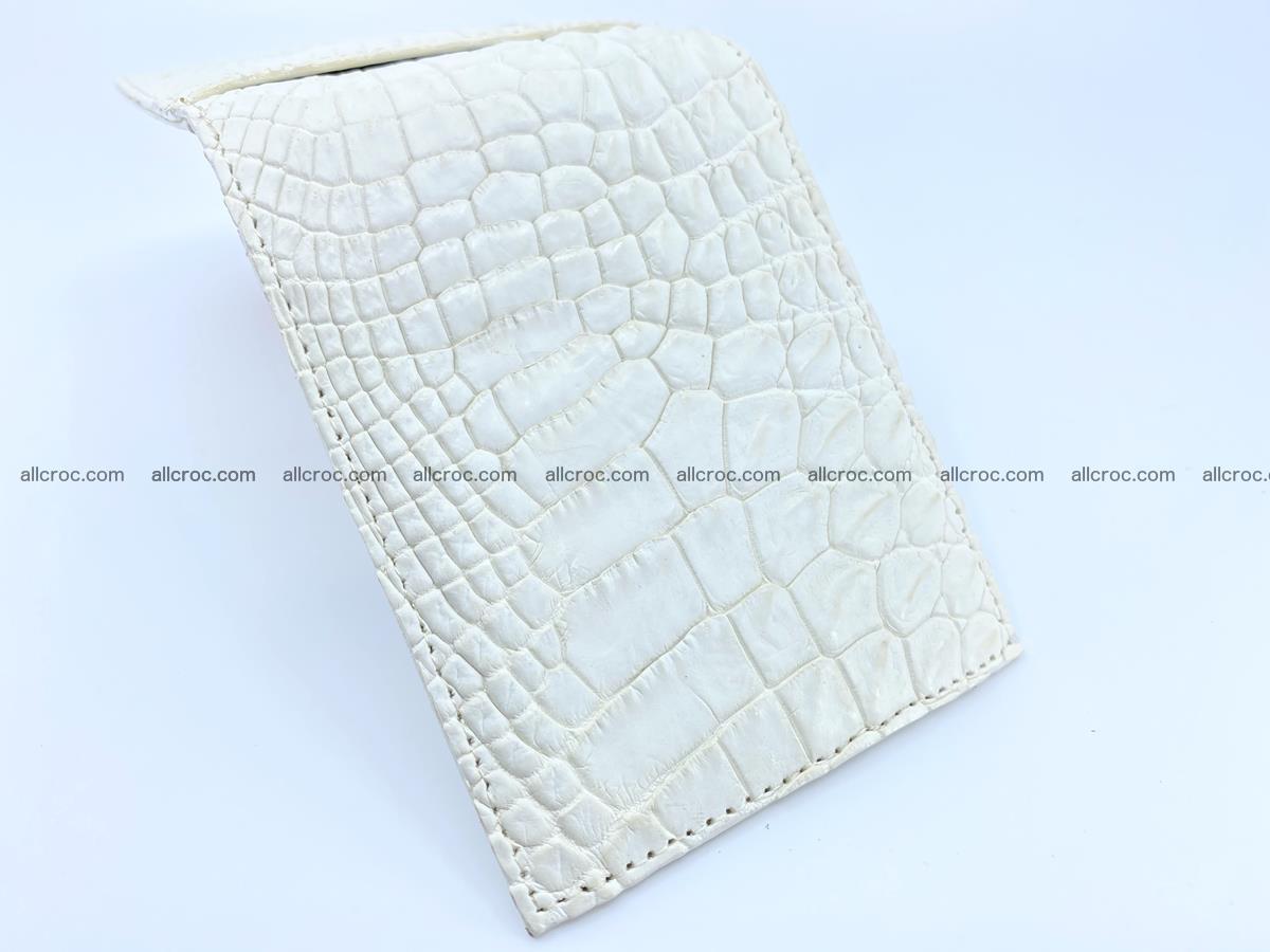Crocodile leather money clip 941 Foto 2