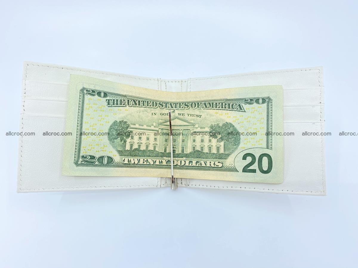 Crocodile leather money clip 941 Foto 5