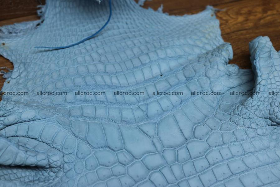 Crocodile skin belly blue jeans color 1230