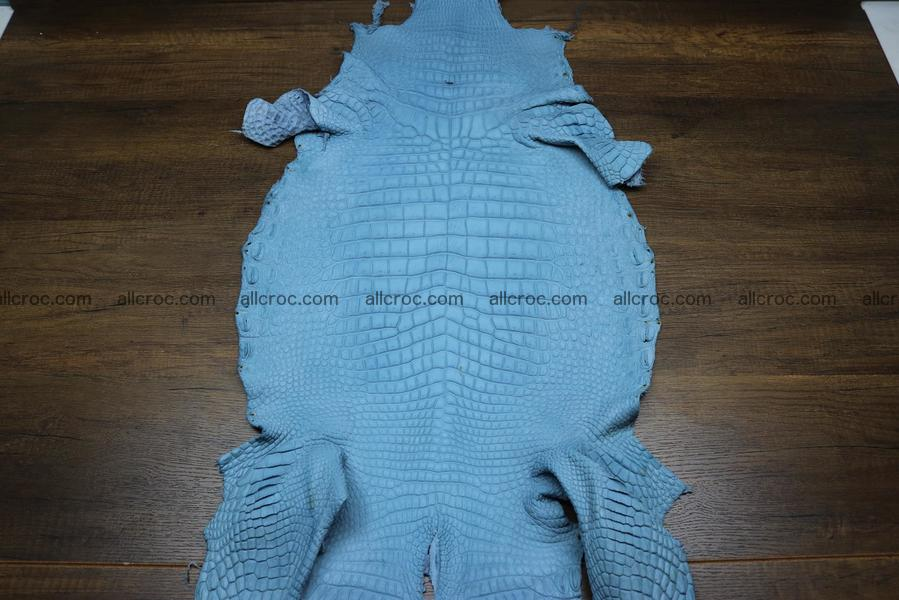 Crocodile skin belly blue jeans color 1231