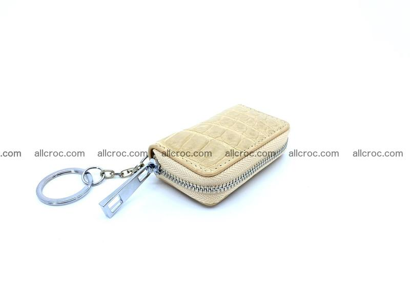 Crocodile skin car key case 1208