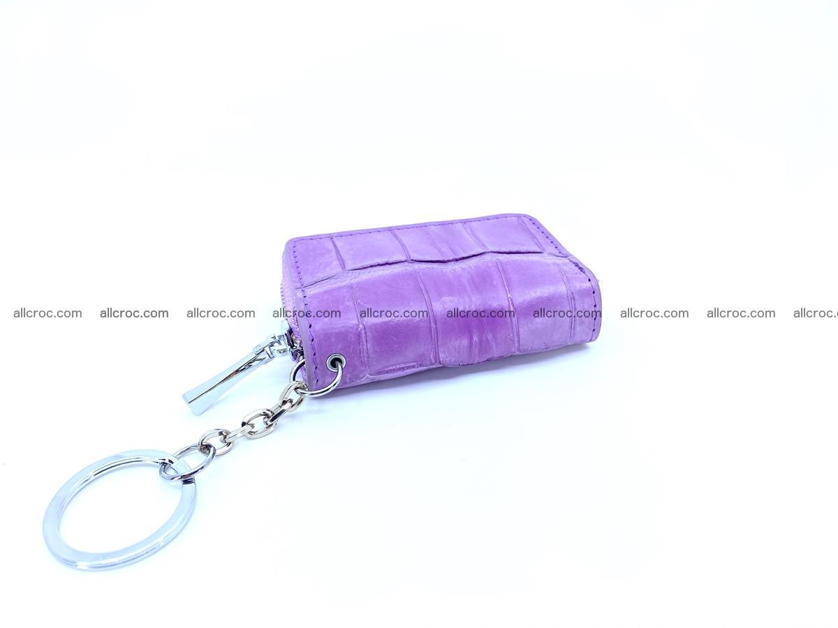 Crocodile skin car key case 1209 Foto 2