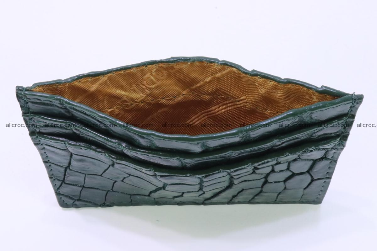 Card holder from Siamese crocodile skin dark green color 372 Foto 3