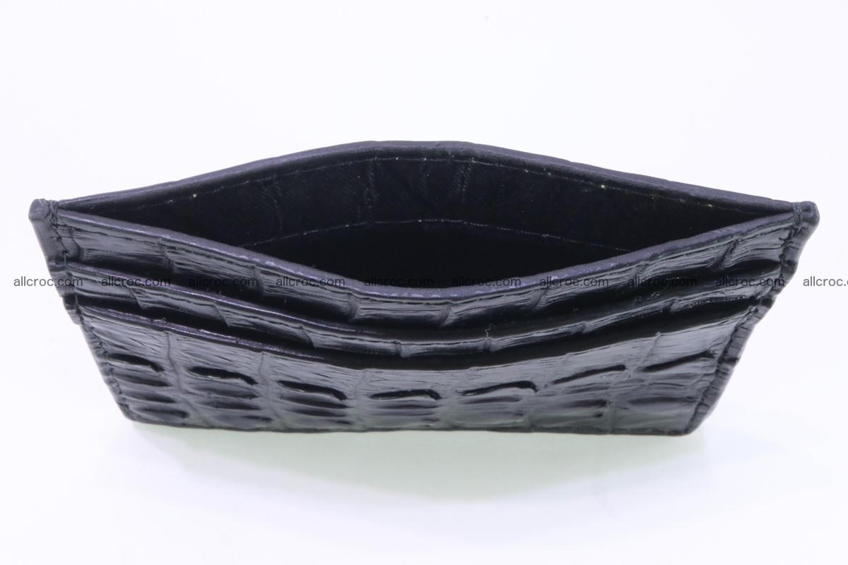 Card holder from tail part of Siamese crocodile skin black color 376 Foto 3
