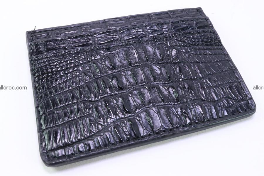 Card holder from tail part of Siamese crocodile skin black color377