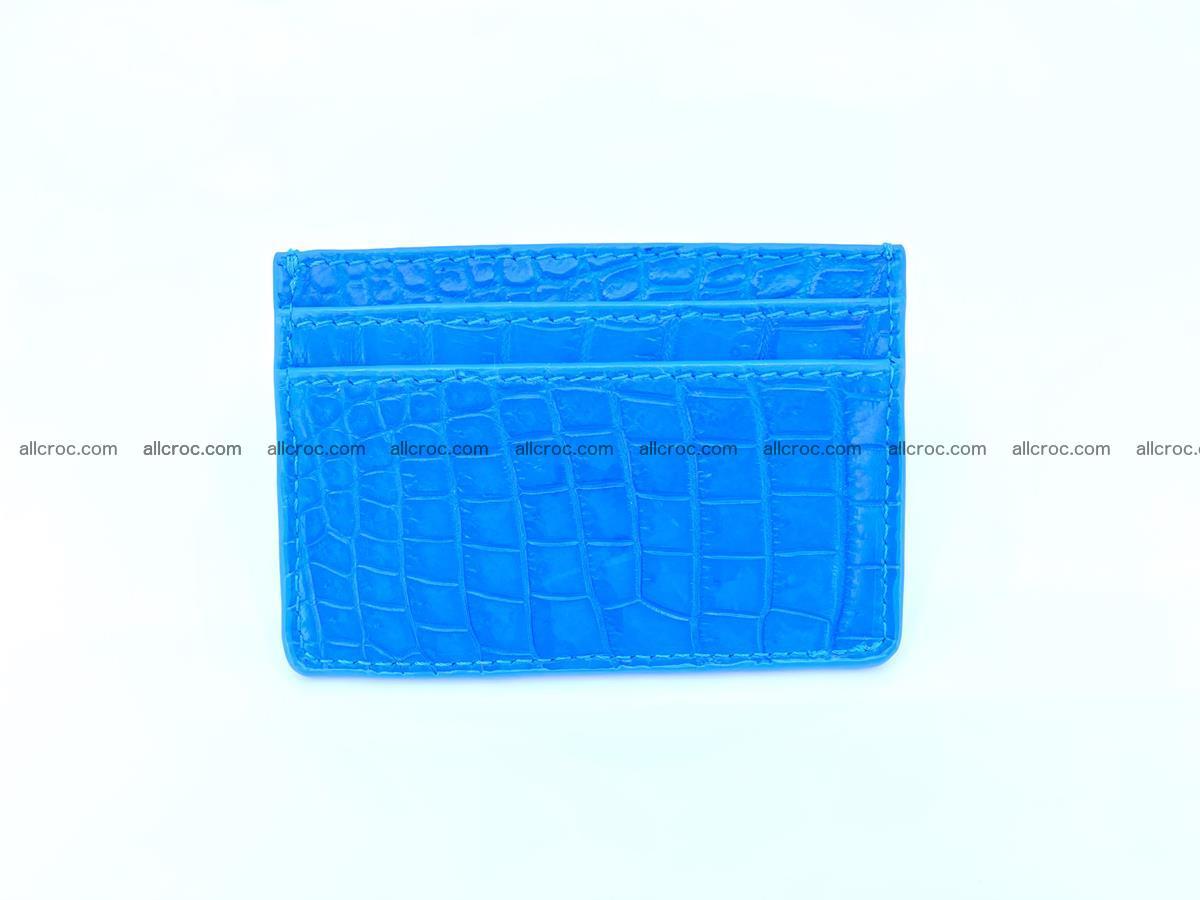 Card holder from Siamese crocodile skin 366 Foto 1