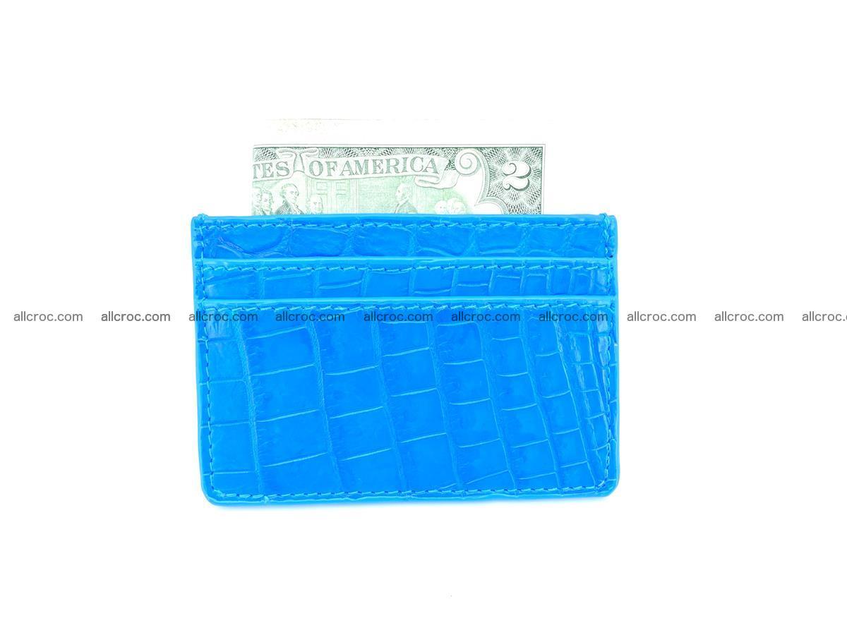Card holder from Siamese crocodile skin 366 Foto 3