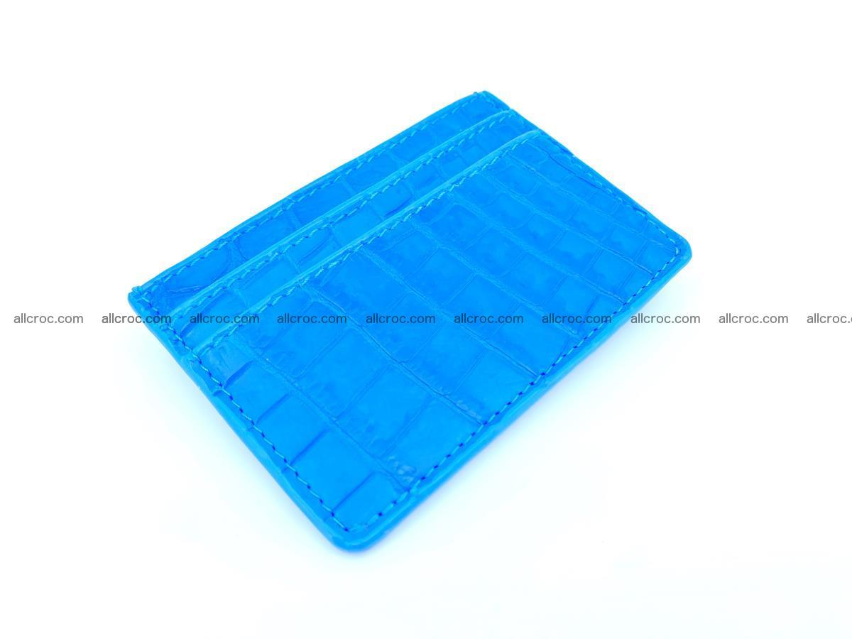 Card holder from Siamese crocodile skin 366 Foto 0