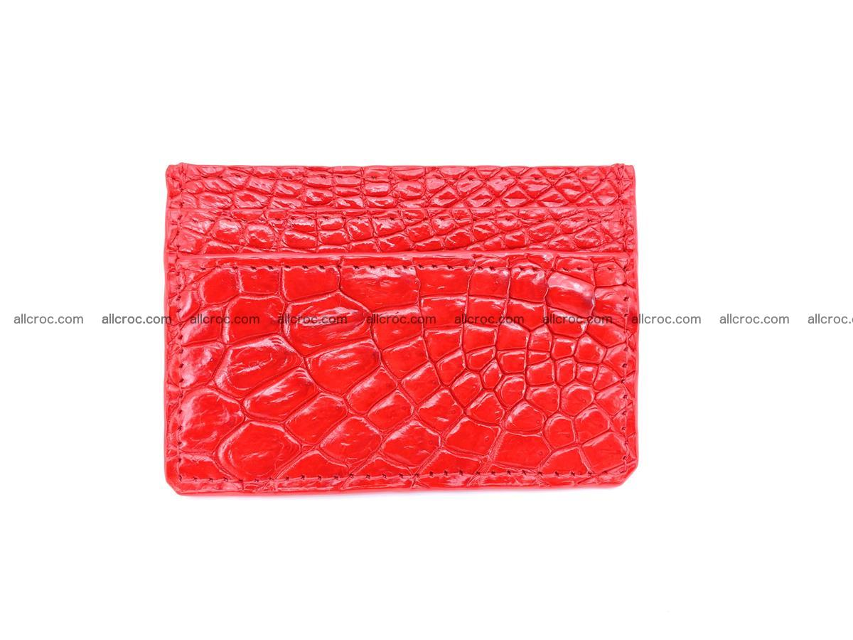 Card holder from Siamese crocodile skin red color 368 Foto 2