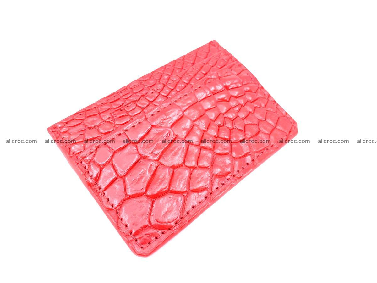 Card holder from Siamese crocodile skin red color 368 Foto 0