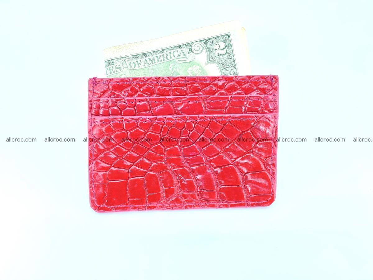 crocodile skin card holder 992 Foto 3