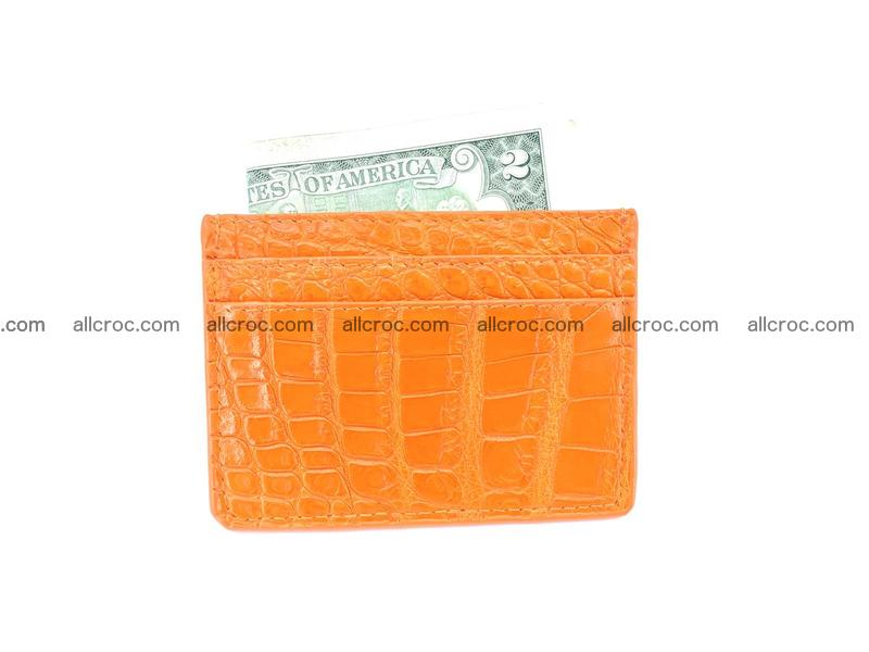 crocodile skin card holder 998
