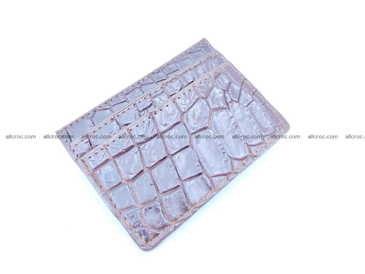 crocodile skin card holder 373 Foto 0