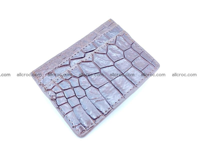 crocodile skin card holder 374