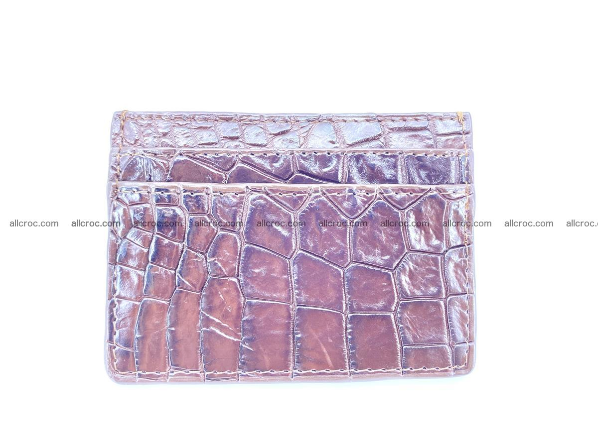 crocodile skin card holder 374 Foto 1