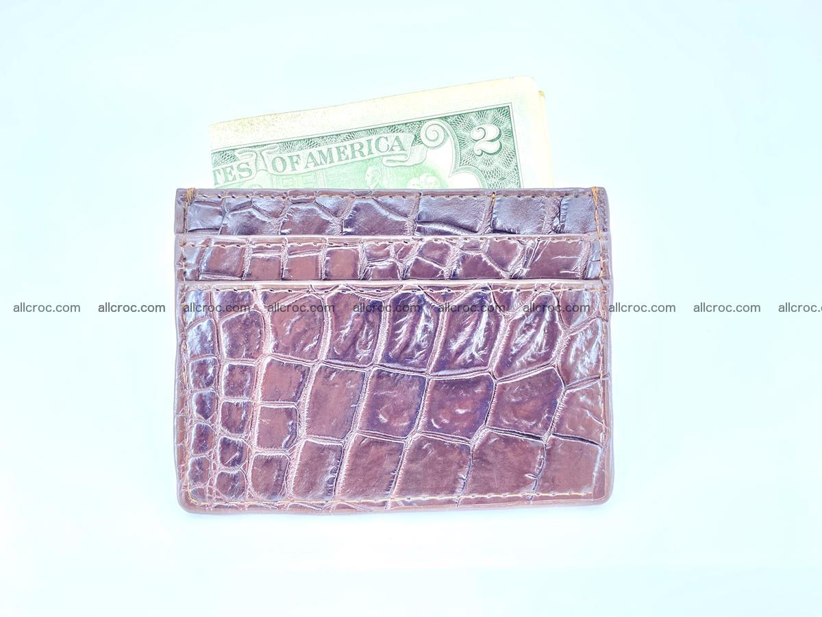 crocodile skin card holder 374 Foto 3