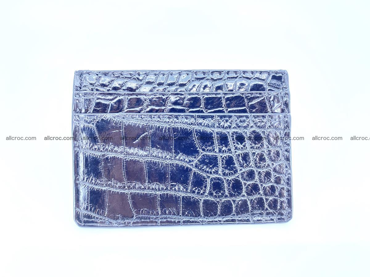 crocodile skin card holder black color 375 Foto 3