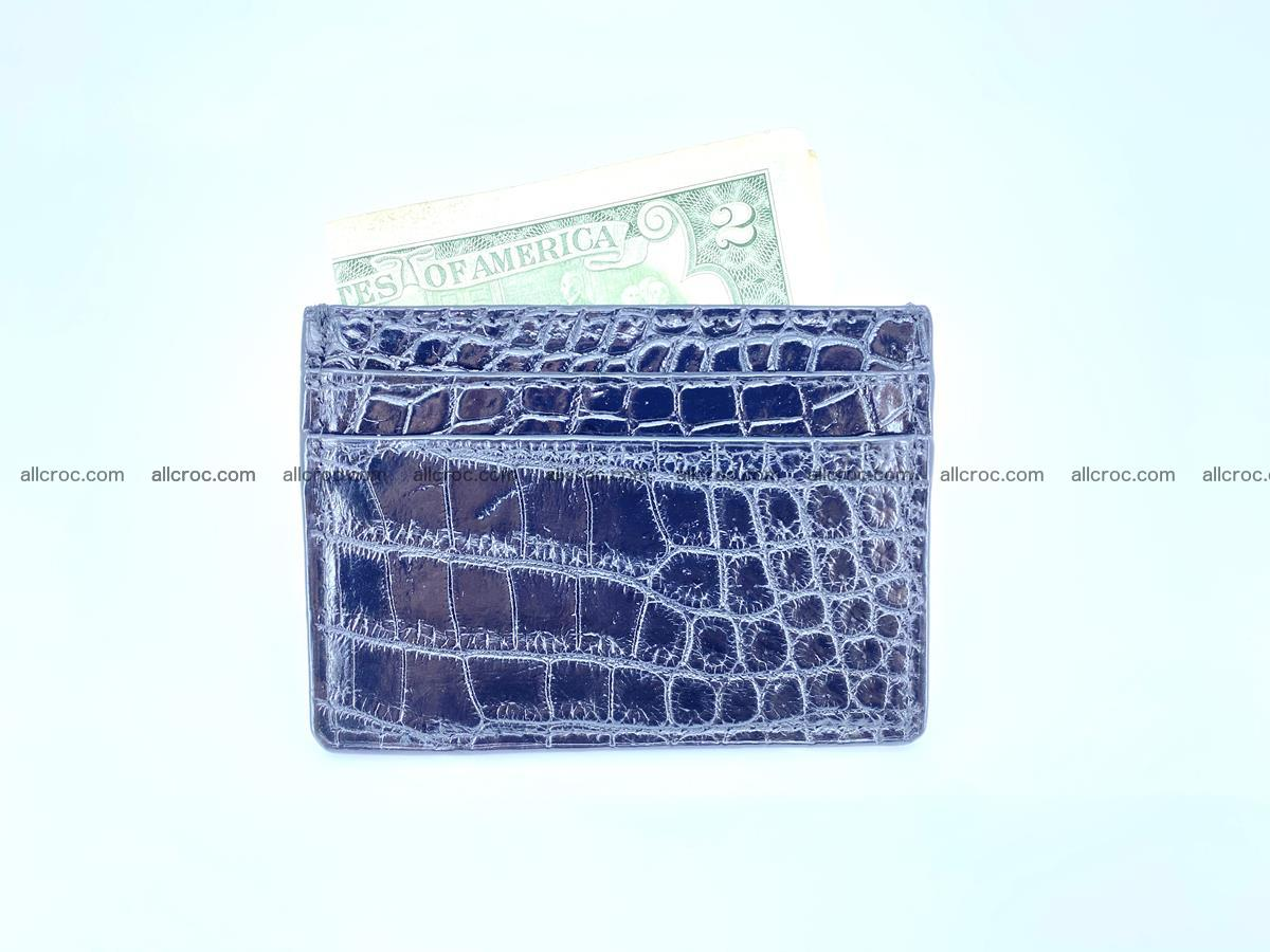 crocodile skin card holder black color 375 Foto 2