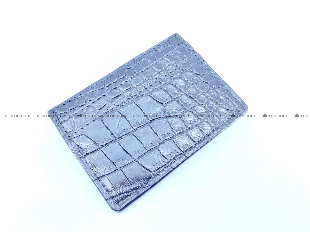 crocodile skin card holder black color 375 Foto 0