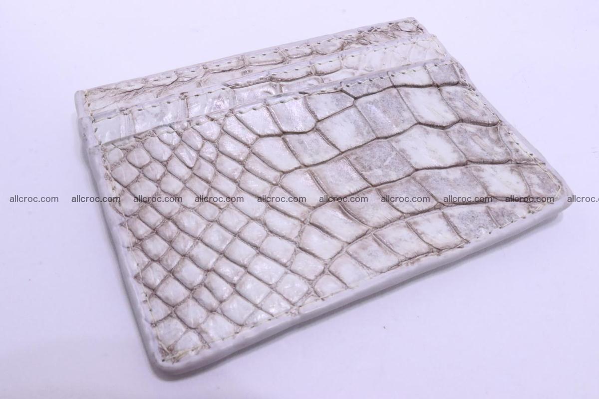 Card holder from Siamese crocodile skin 367 Foto 0