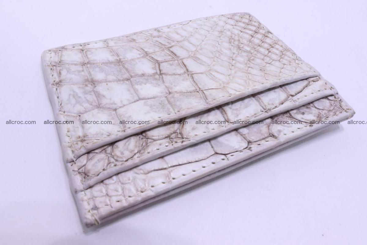 Card holder from Siamese crocodile skin 367 Foto 1