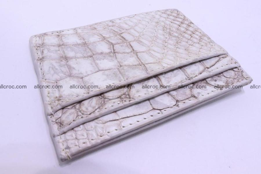 Card holder from Siamese crocodile skin 367