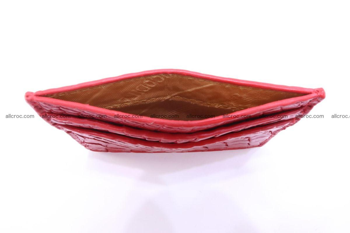 Card holder from crocodile skin red color 987 Foto 4