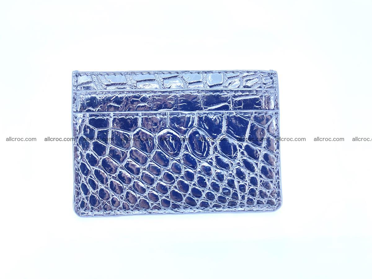 crocodile skin card holder black color 1001 Foto 1
