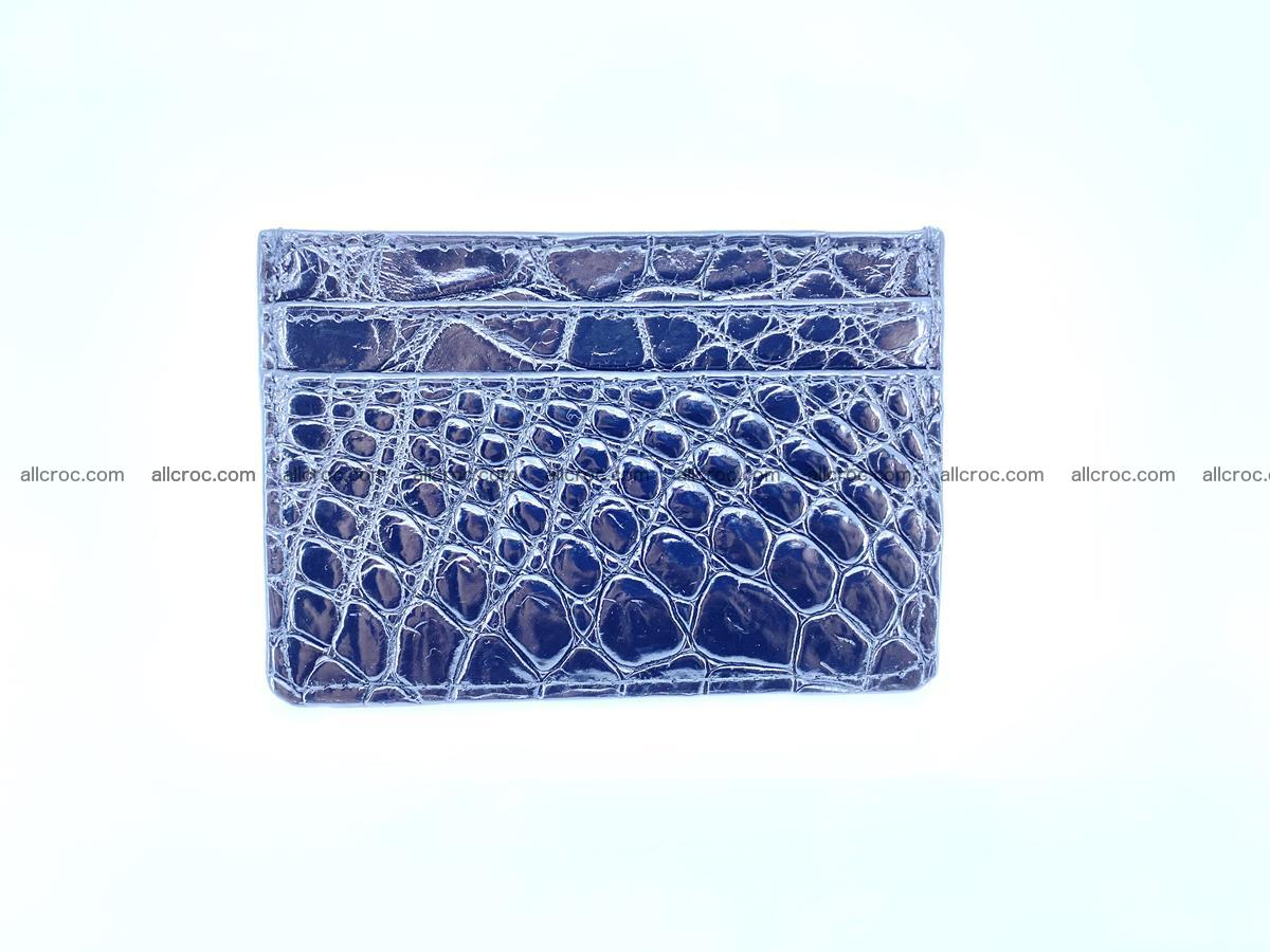 crocodile skin card holder black color 1001 Foto 2