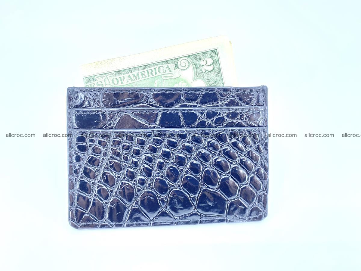 crocodile skin card holder black color 1001 Foto 3