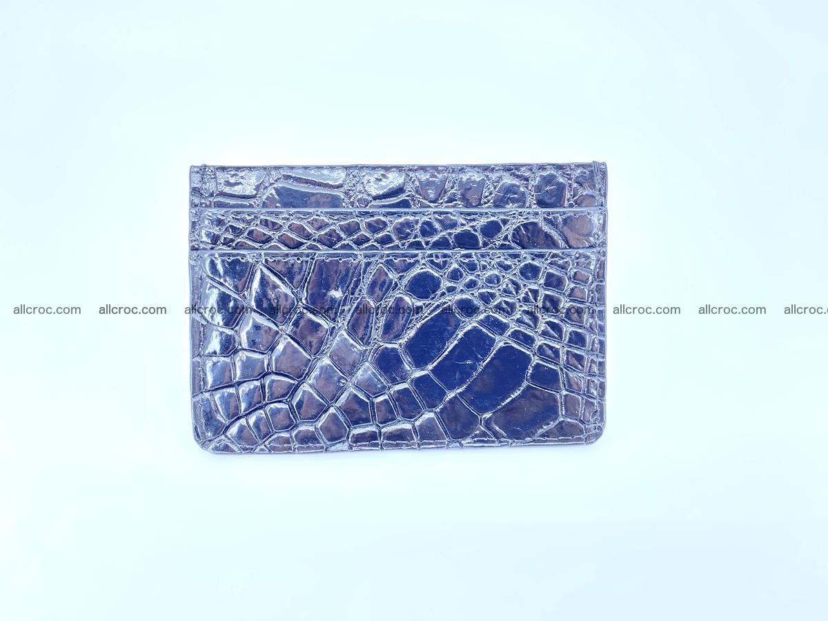 crocodile skin card holder black color 1002 Foto 1