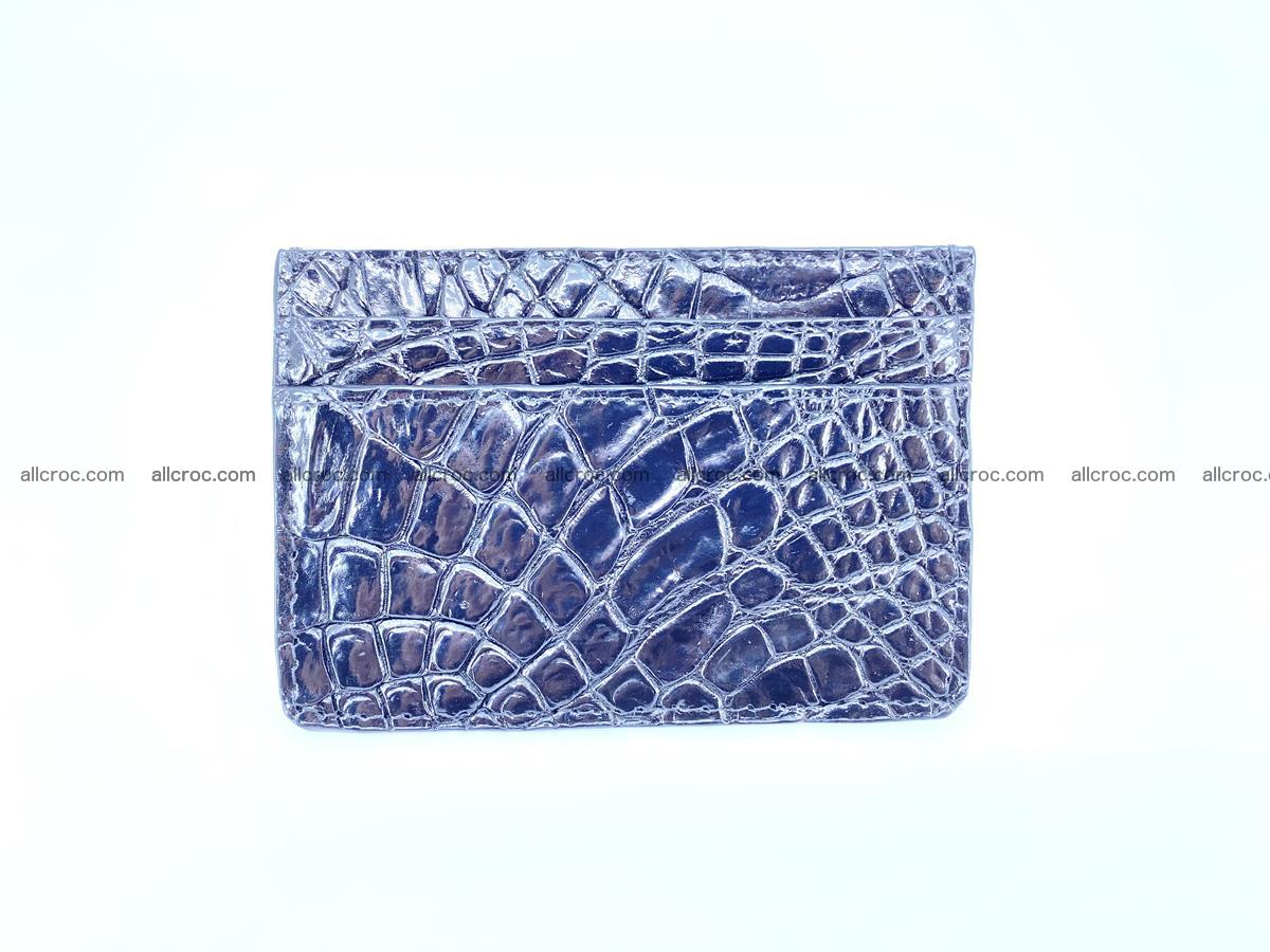 crocodile skin card holder black color 1002 Foto 2