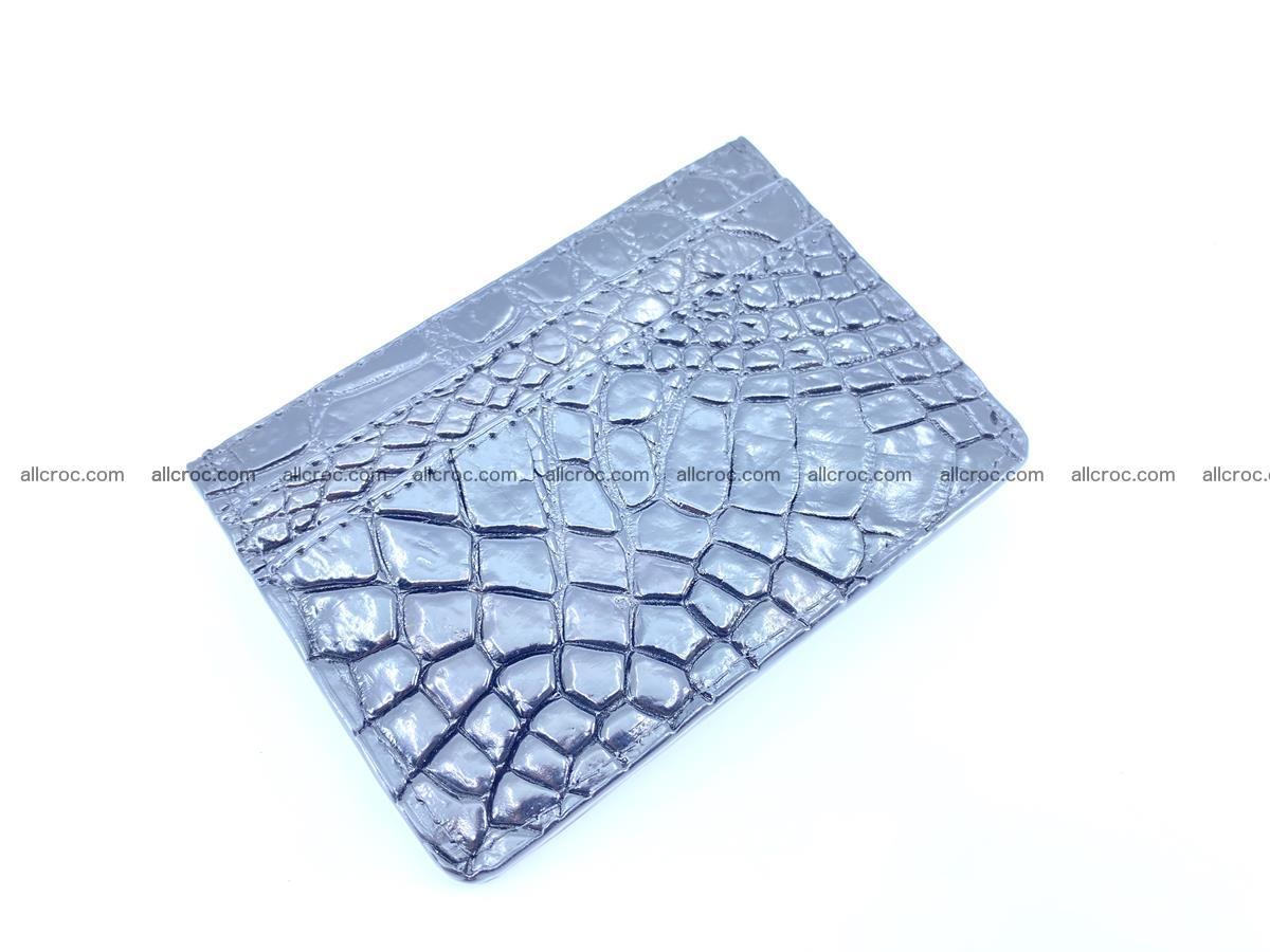 crocodile skin card holder black color 1002 Foto 0