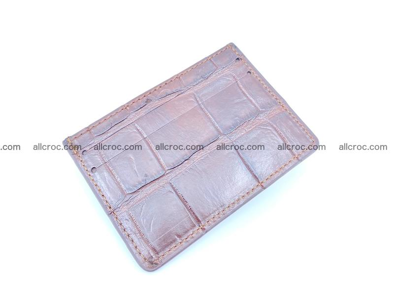 crocodile skin card holder 1006