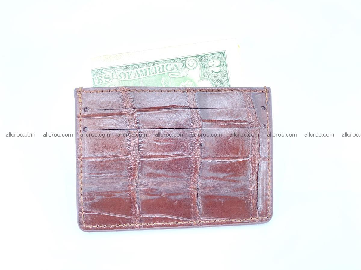 crocodile skin card holder 521 Foto 3