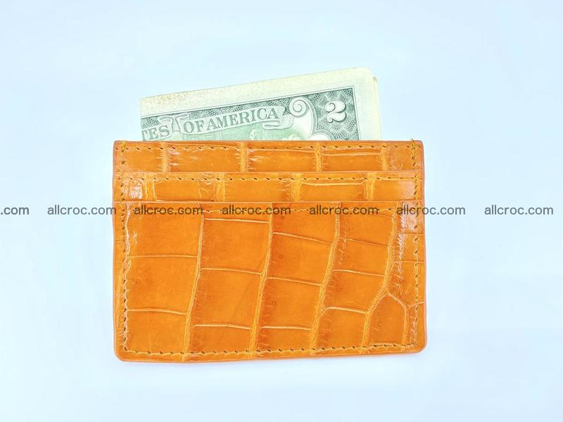 crocodile skin card holder 1000