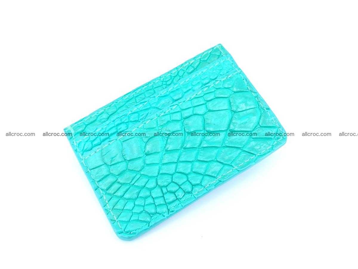 crocodile skin card holder 990 Foto 0