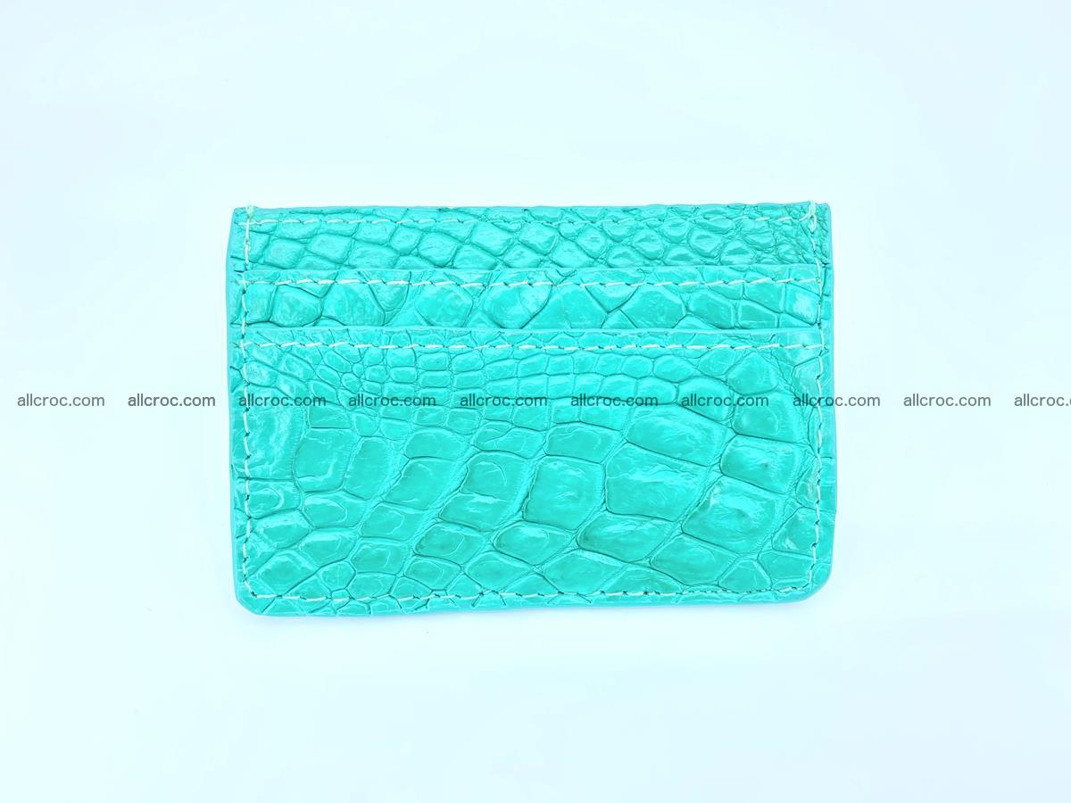 crocodile skin card holder 990 Foto 1
