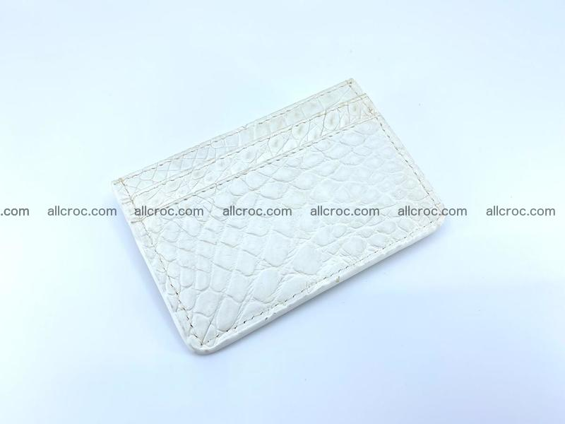 Crocodile skin card holder 995