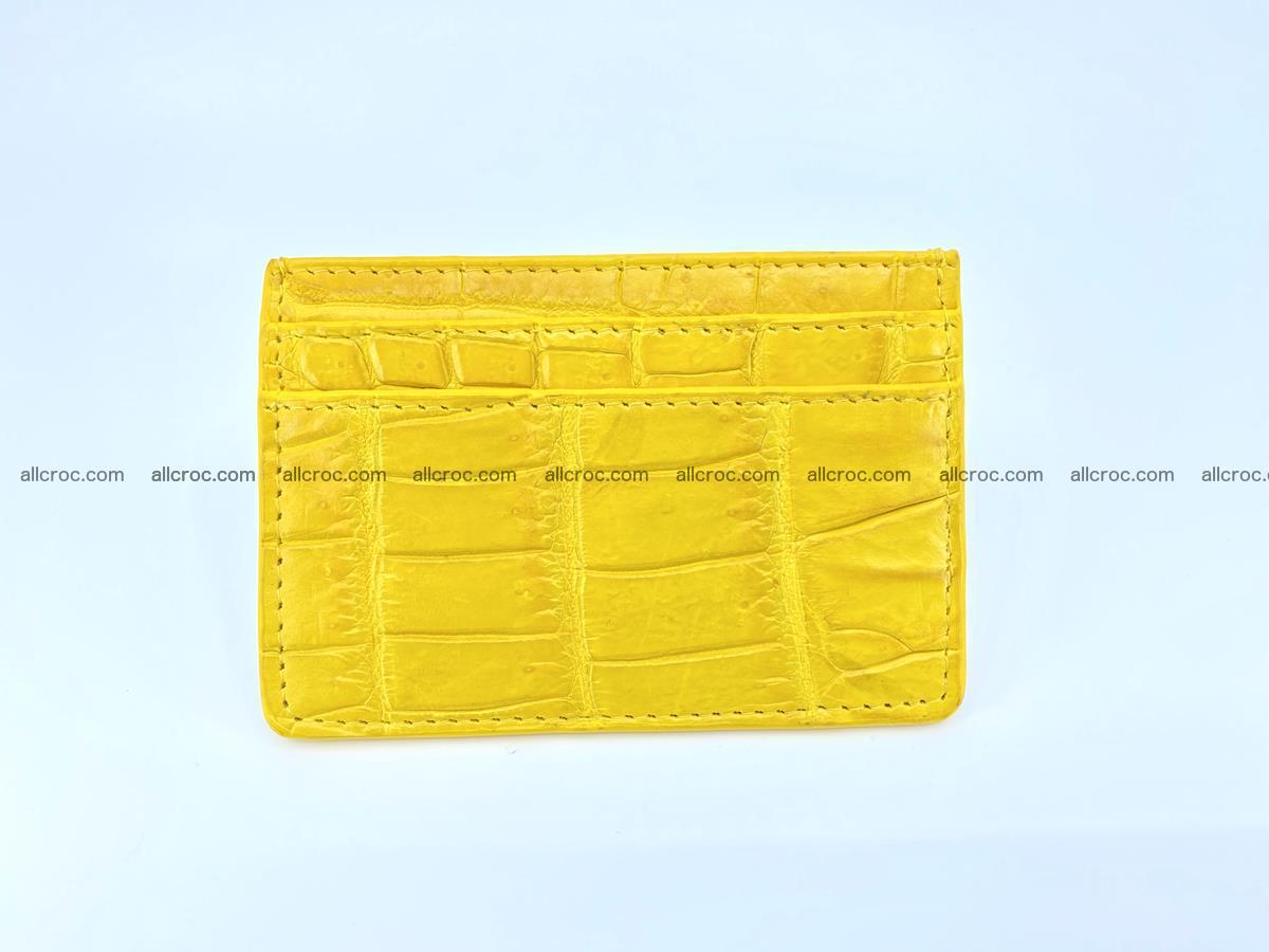 crocodile skin card holder yellow color 989 Foto 1