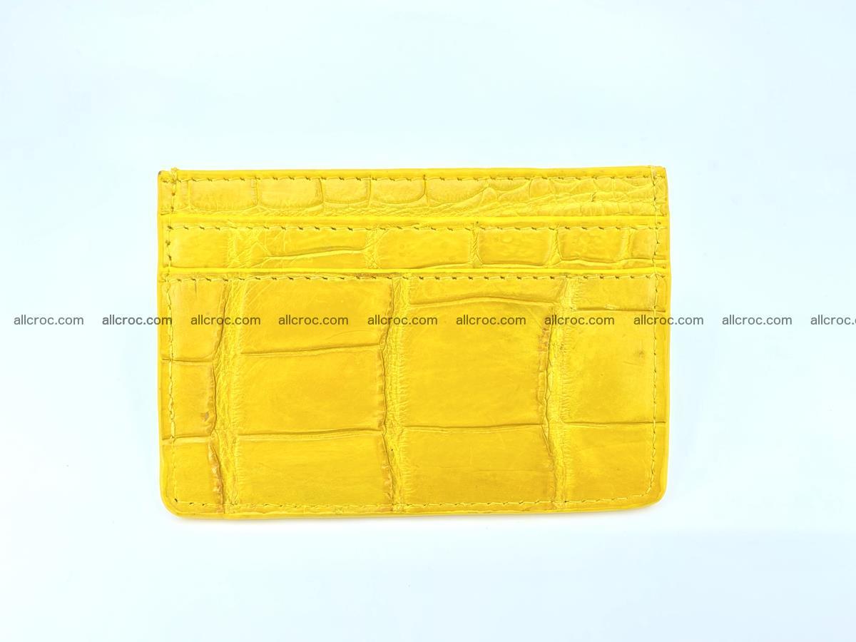 crocodile skin card holder yellow color 989 Foto 2