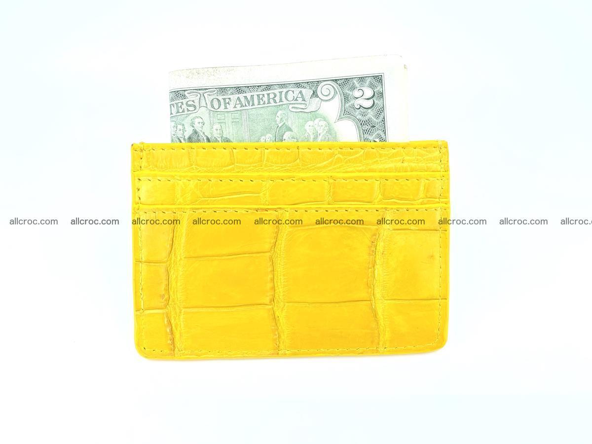crocodile skin card holder yellow color 989 Foto 3